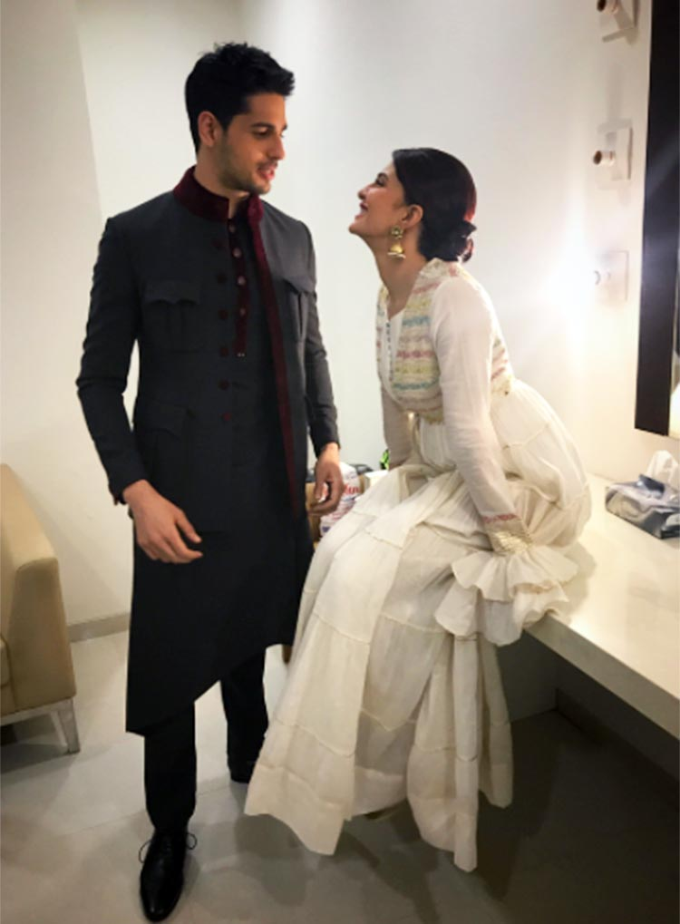 Sidharth Malhotra with Jacqueline Fernandez for A Gentleman promotions
