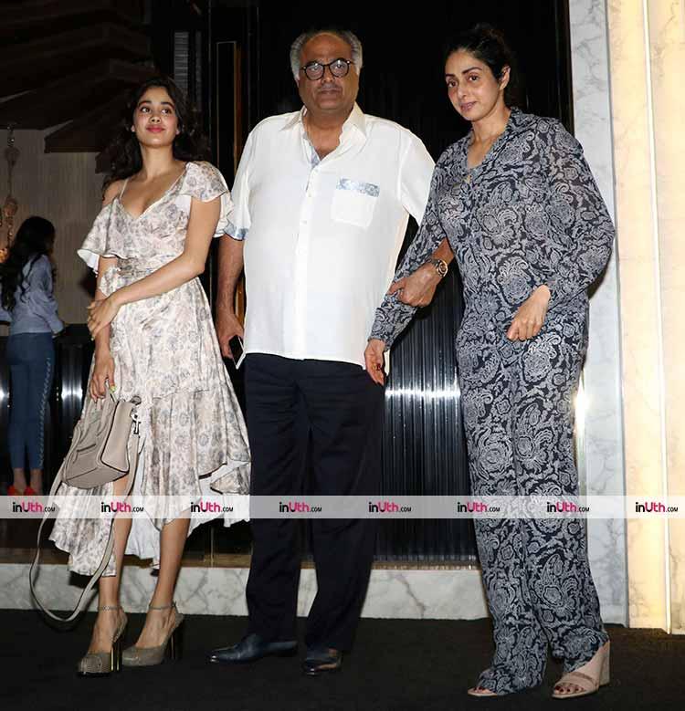 Sridevi with Jhanvi and Boney Kapoor