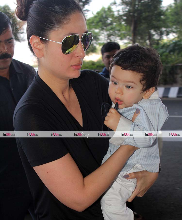 Taimur Ali Khan looks super adorable in this photo as he leaves for Veere Di Wedding