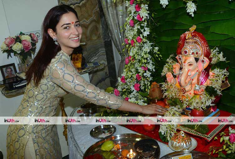 Tamannaah Bhatia seeking the blessings of Ganesha