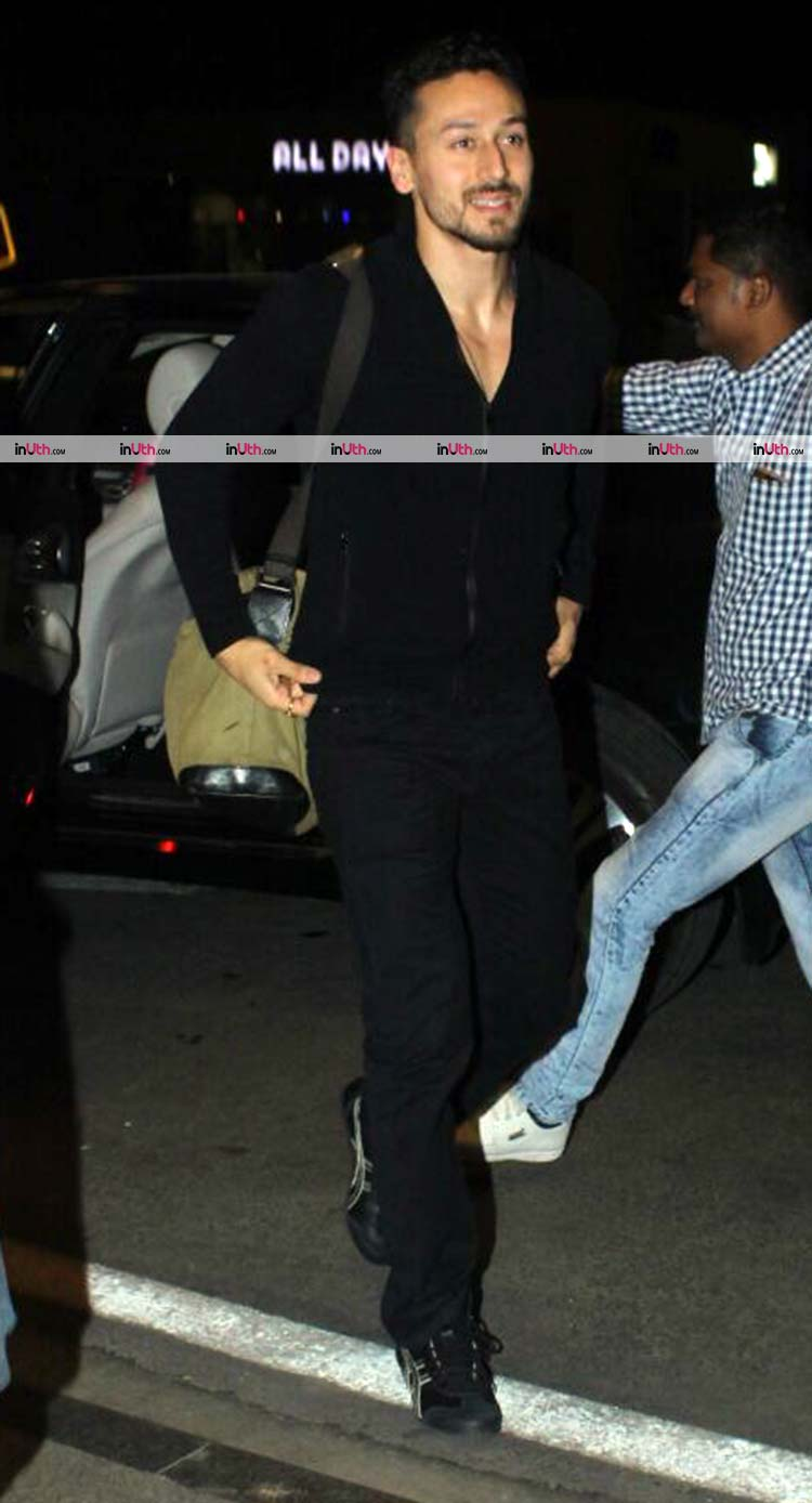 Tiger Shroff snapped at Mumbai airport on December 27