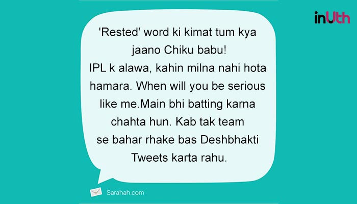 Saraha message to Virat Kohli