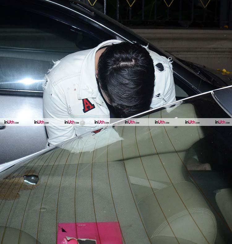 Aarav Bhatia spotted in Mumbai on Monday night