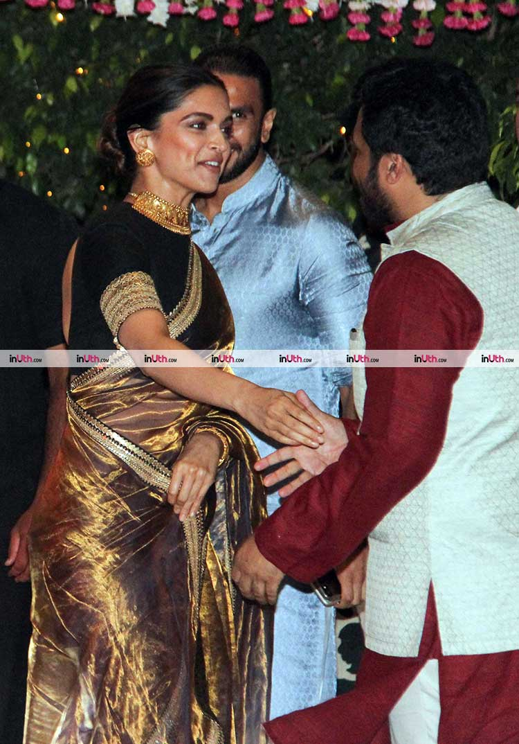 Deepika Padukone and Ranveer Singh leaving Ambani's party together