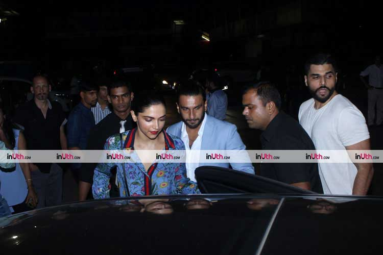 Deepika Padukone and Ranveer Singh on a dinner date