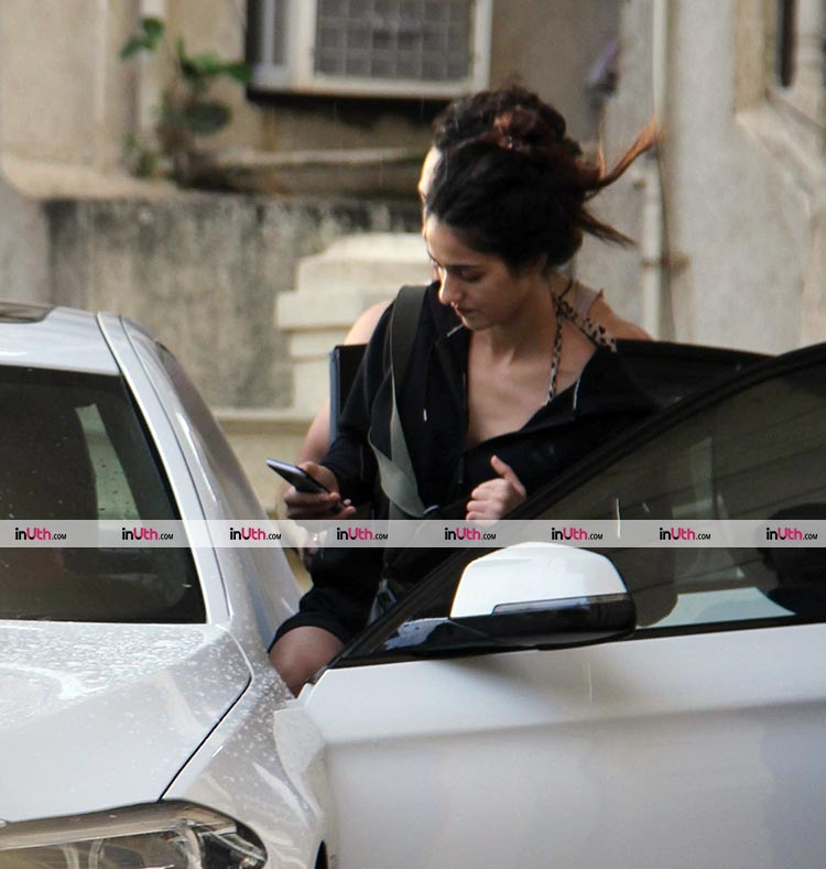 Disha Patani spotted outside her new apartment with Tiger Shroff
