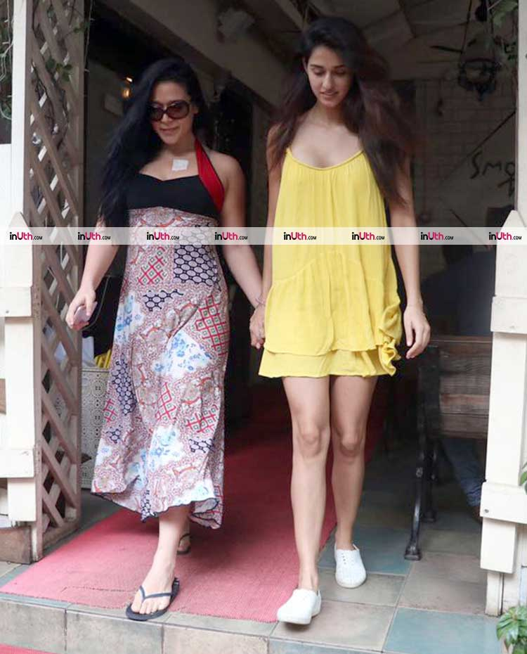 Disha Patani spotted with Krishna Shroff