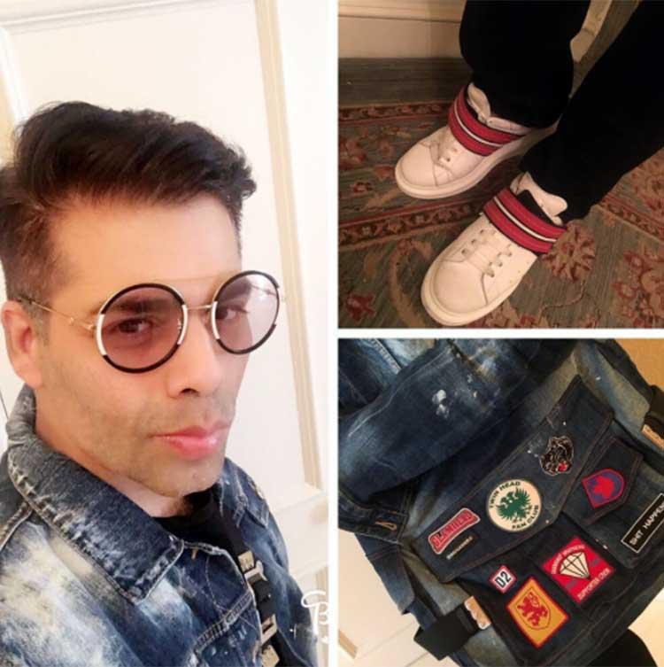 Karan Johar is making white shoes look amazing efficaciously