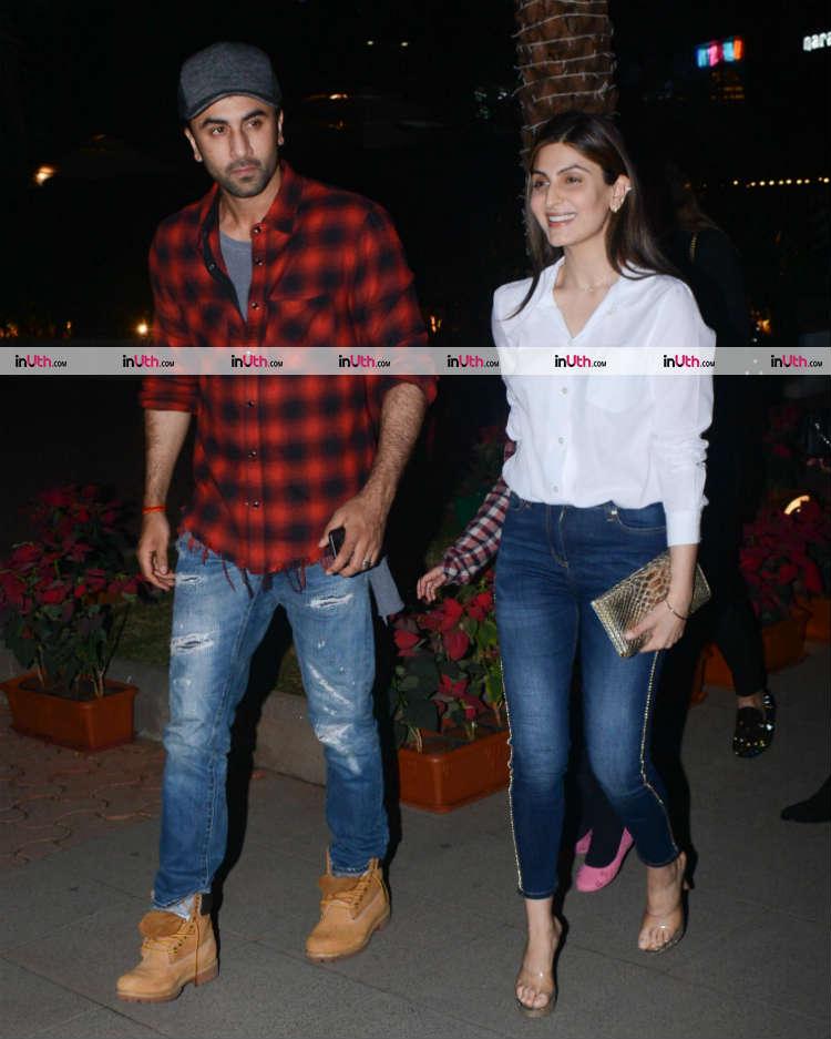 Ranbir Kapoor with sister Riddhima Sahni post-dinner on January 10