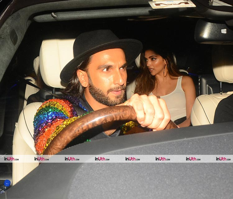 Ranveer Singh and Deepika Padukone share a ride for Ritesh Sidhwani's party