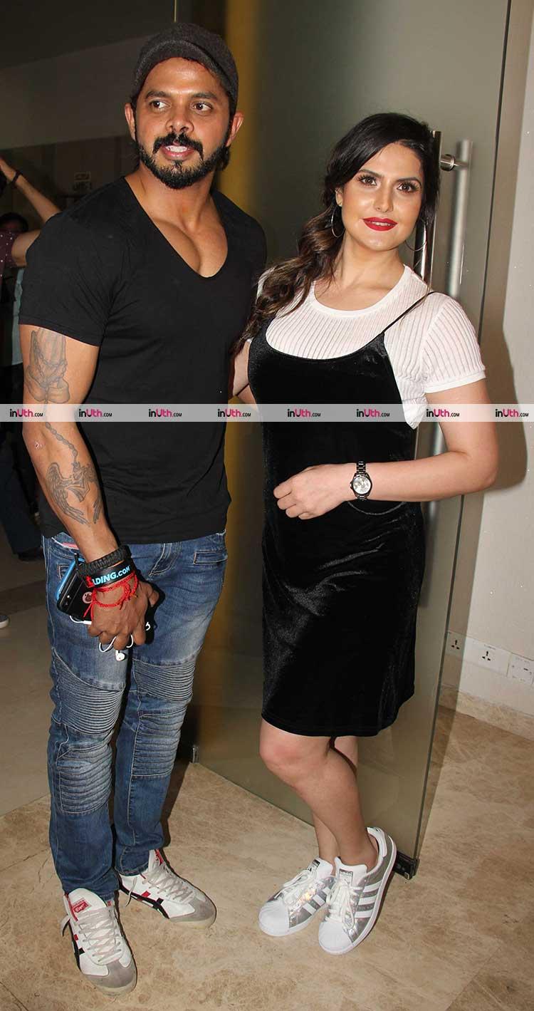 S. Sreesanth and Zarine Khan at Aksar 2 trailer launch