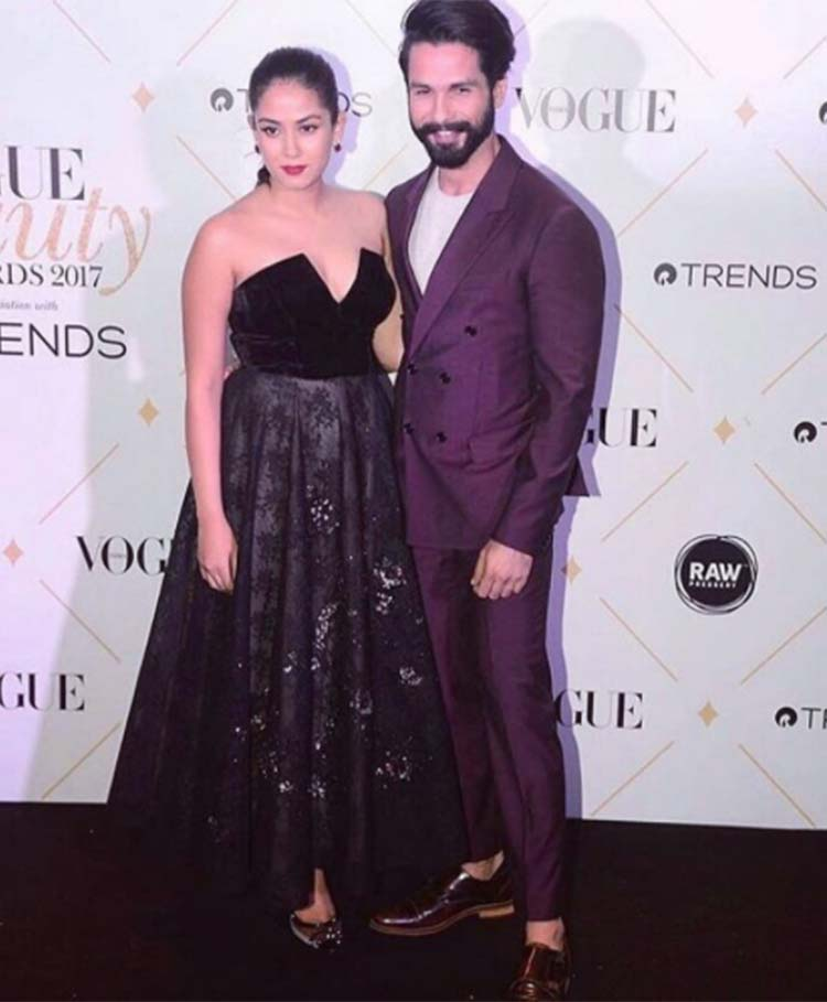 Shahid Kapoor, Mira Rajput at the Vogue Beauty Awards 2017