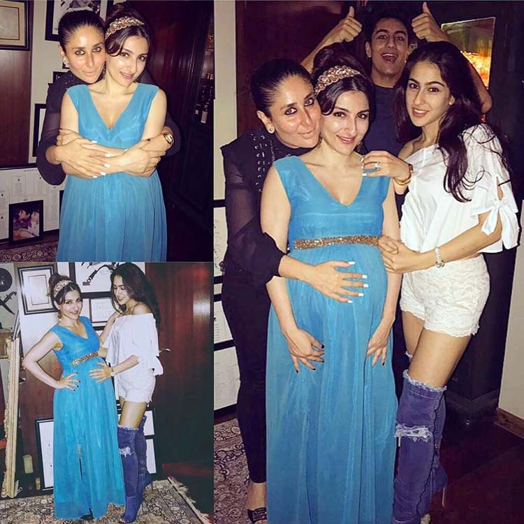 Soha Ali Khan, Sara, and Ibrahim at Saif Ali Khan's birthday party