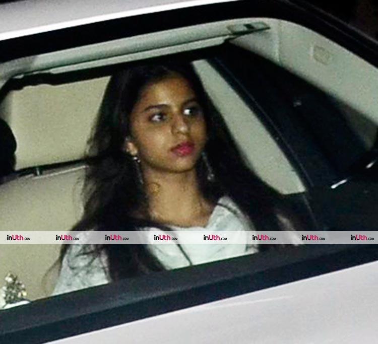 Suhana Khan spotted outside Mumbai airport