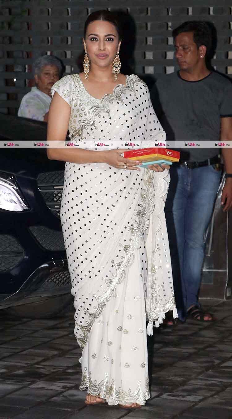Swara Bhaskar at Arpita Khan's Ganesh Visarjan