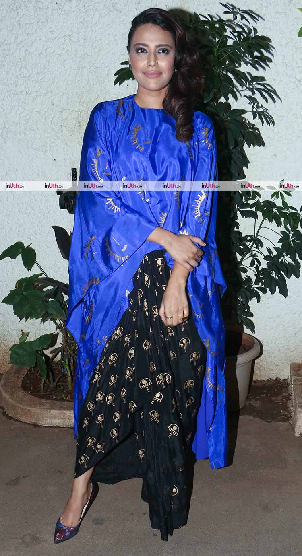 Swara Bhaskar at the special screening of Bareilly Ki Barfi