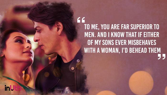 Shah Rukh Khan and Rani Mukerji in Kabhi Alvida Naa Kehna (Treatment by InUth, Chetan Kamal), inuth.com