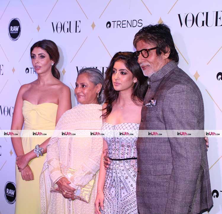 Amitabh Bachchan, Navya Naveli, Jaya Bachchan, Shweta Nanda at Vogue awards