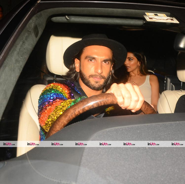 Deepika Padukone snapped with Ranveer Singh at Ritesh Sidhwani's party