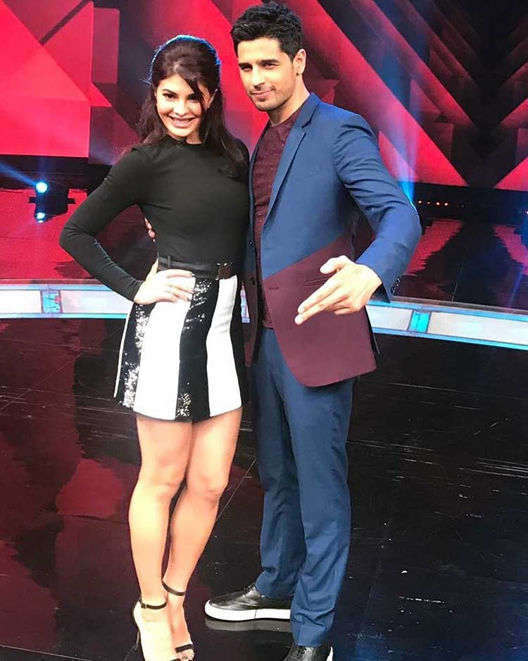 Jacqueline Fernandez, Sidharth Malhotra promote A Gentleman on Dance Plus 3