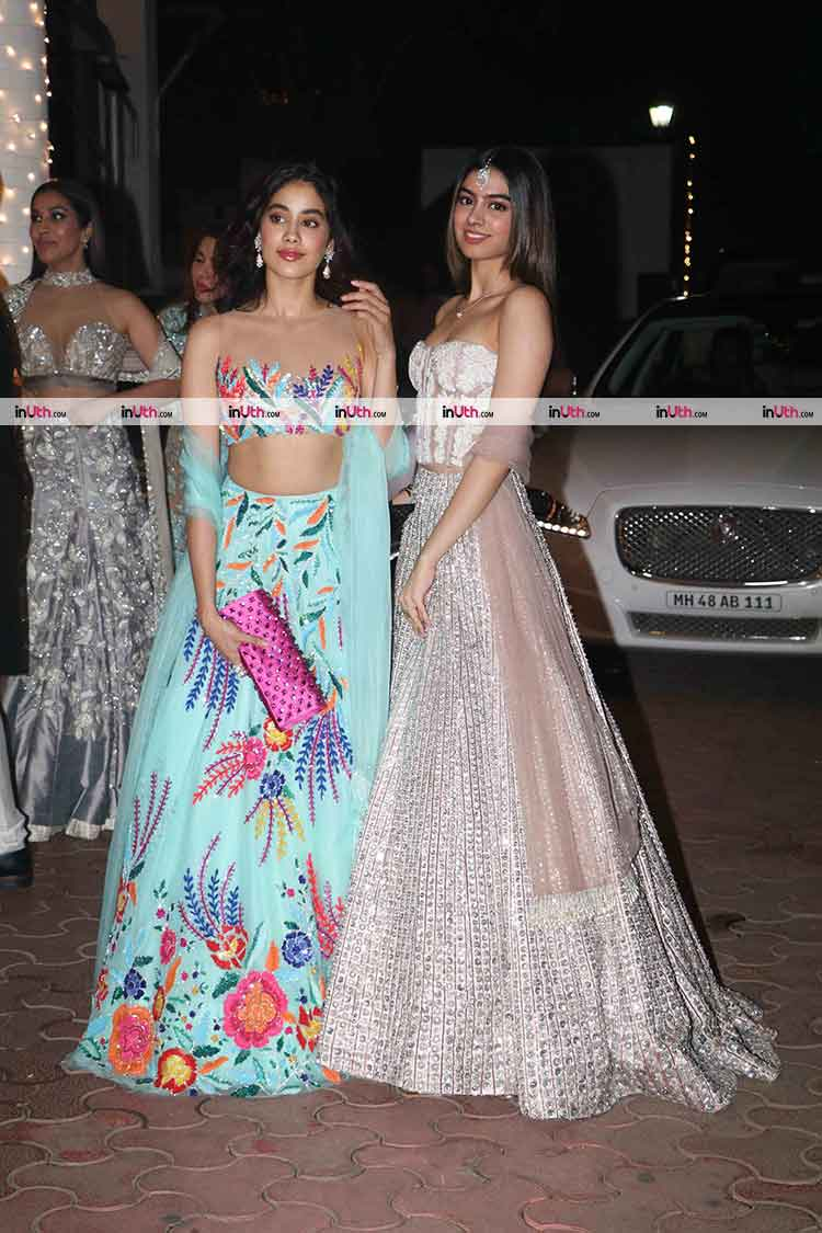 Jhanvi and Khushi Kapoor snapped at Aamir Khan's Diwali party