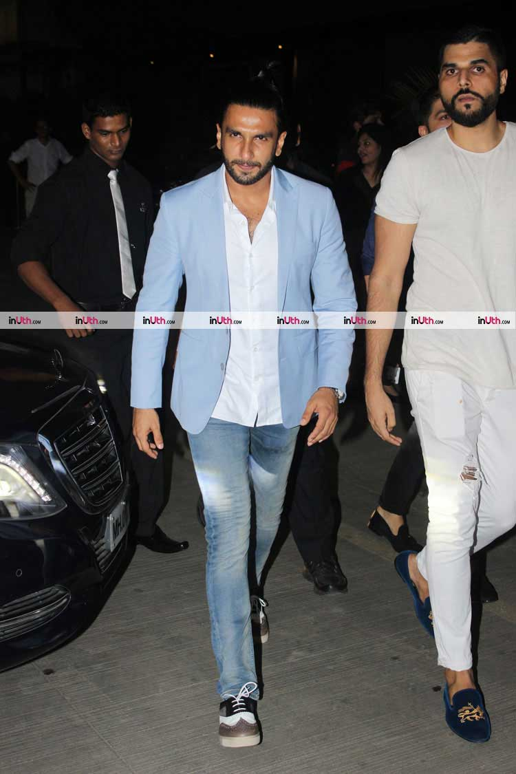 Ranveer Singh spotted in Mumbai after a dinner date with Deepika Padukone