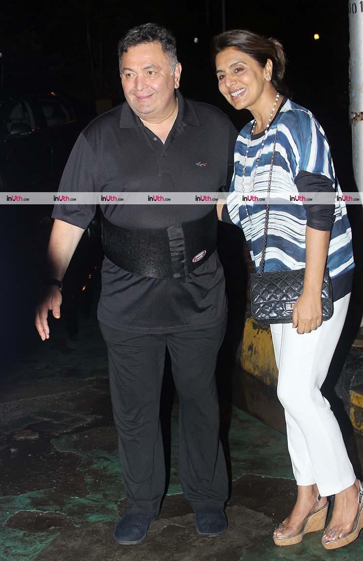 Rishi Kapoor with wife Neetu Kapoor