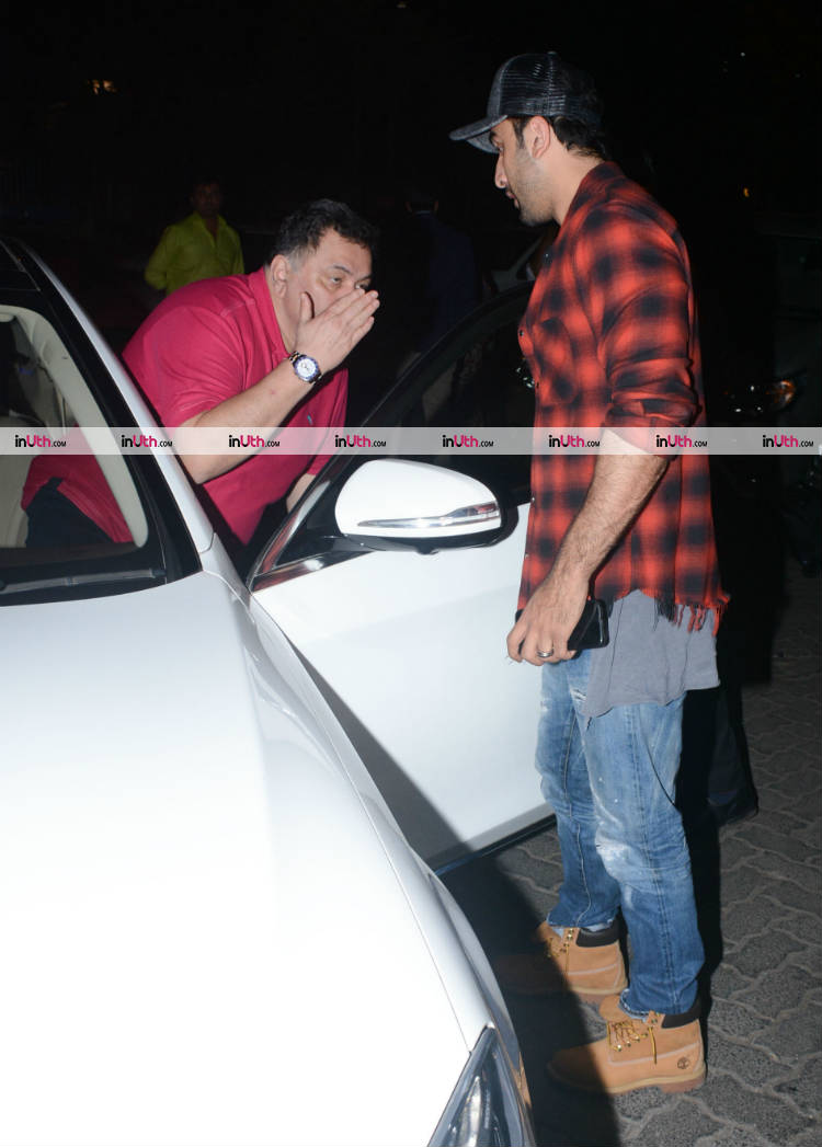 Rishi and Ranbir Kapoor snapped after the dinner on January 10