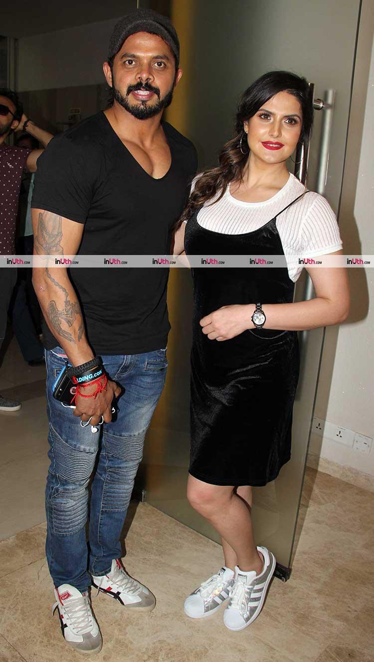 S. Sreesanth with Zarine Khan at Aksar 2 trailer launch
