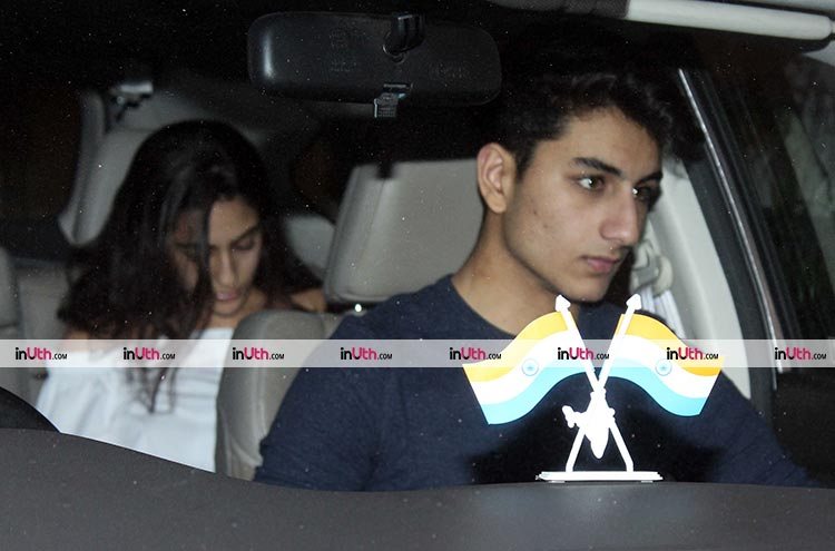 Saif Ali Khan's children arrive for his birthday party