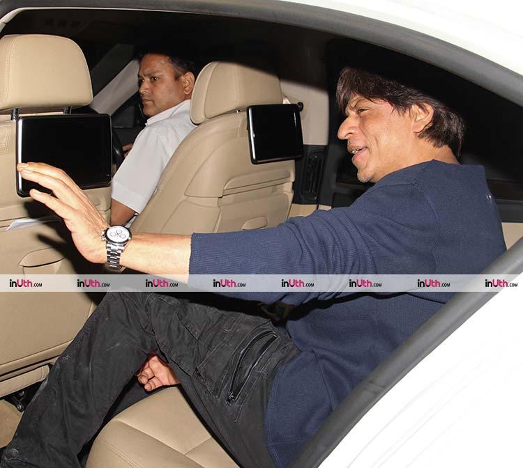 Shah Rukh Khan spotted in Mumbai