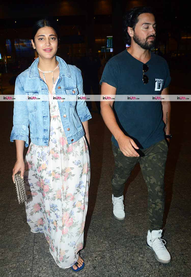 Shruti Haasan clicked with alleged beau Michael Corsale