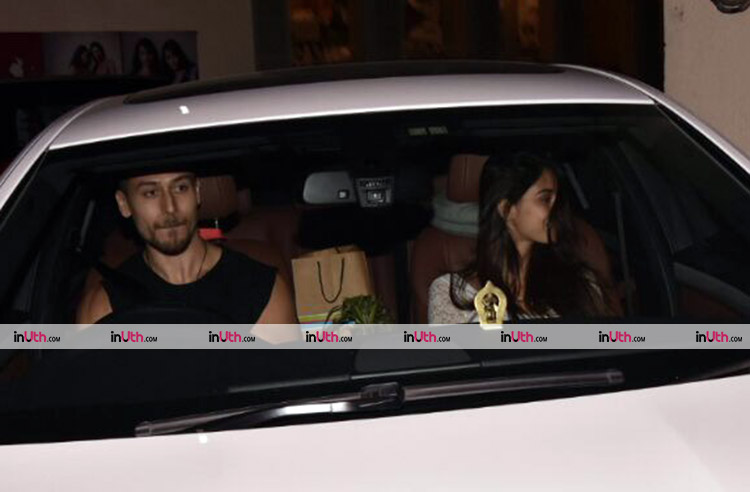 Tiger Shroff and Disha Patani after a movie date