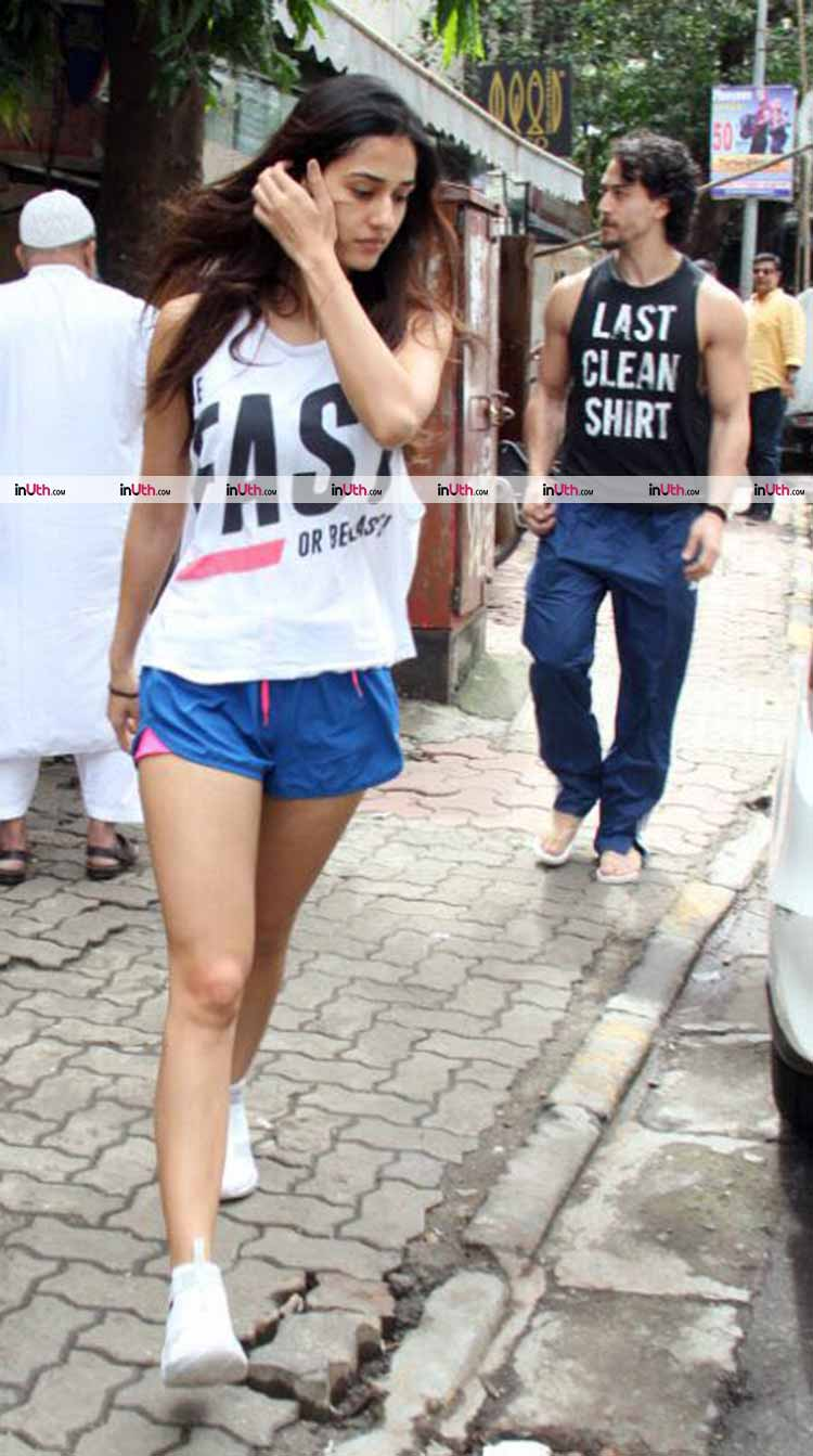 Tiger Shroff and Disha Patani caught together