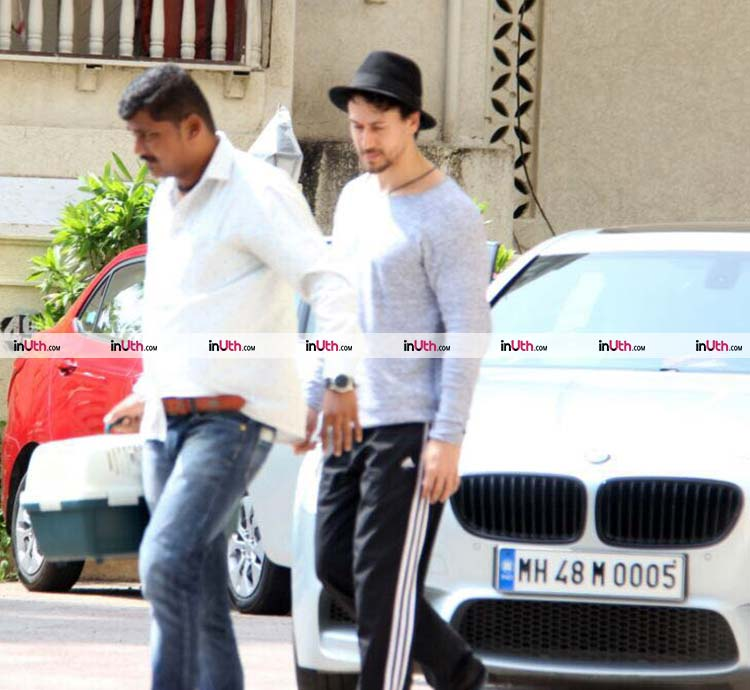 Tiger Shroff outside Disha Patani's house