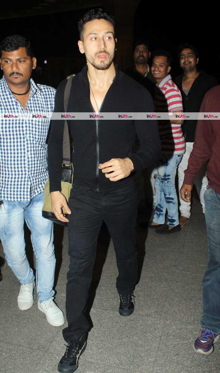 Tiger Shroff snapped at the airport on Wednesday
