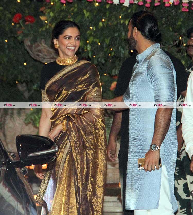 Deepika Padukone and Ranveer Singh at Mukesh Ambani's Ganesh Chaturthi party