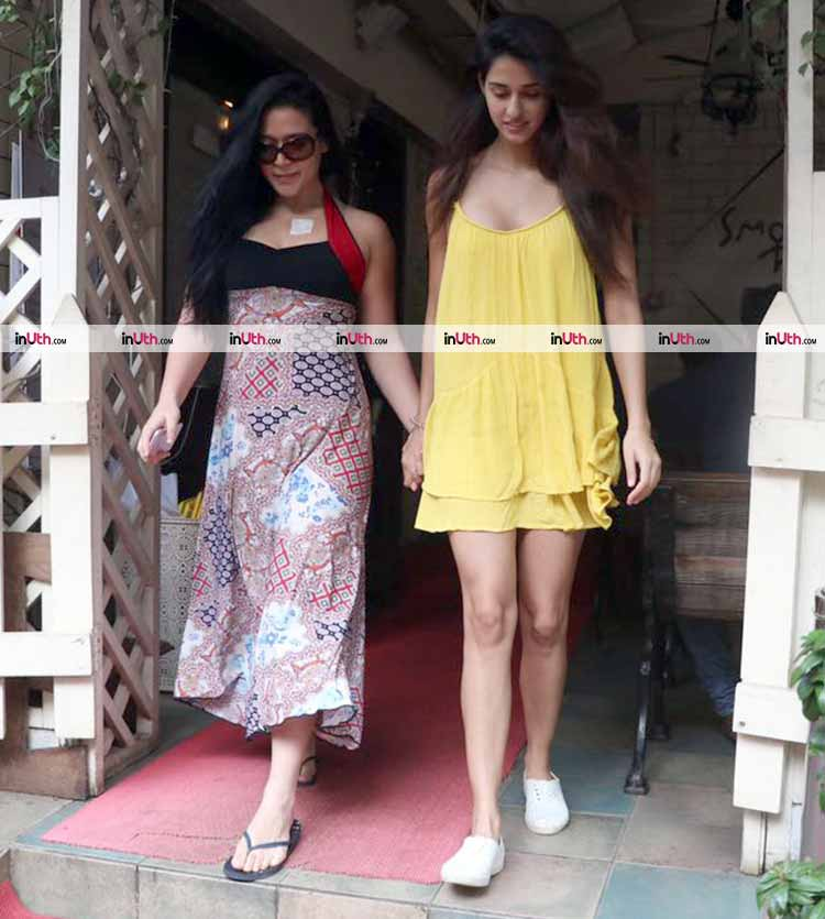 Disha Patani and Krishna Shroff spotted in Bandra