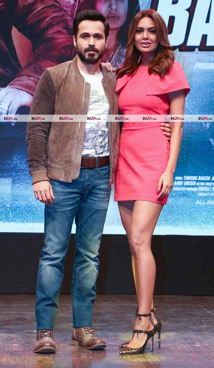 Emraan Hashmi and Esha Deol at Baadshaho trailer launch