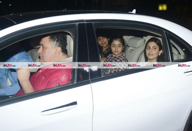 Kapoor family posing for the shutterbugs