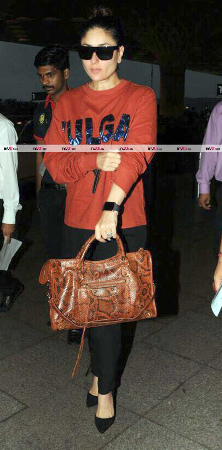 Kareena Kapoor spotted on Mumbai airport last night