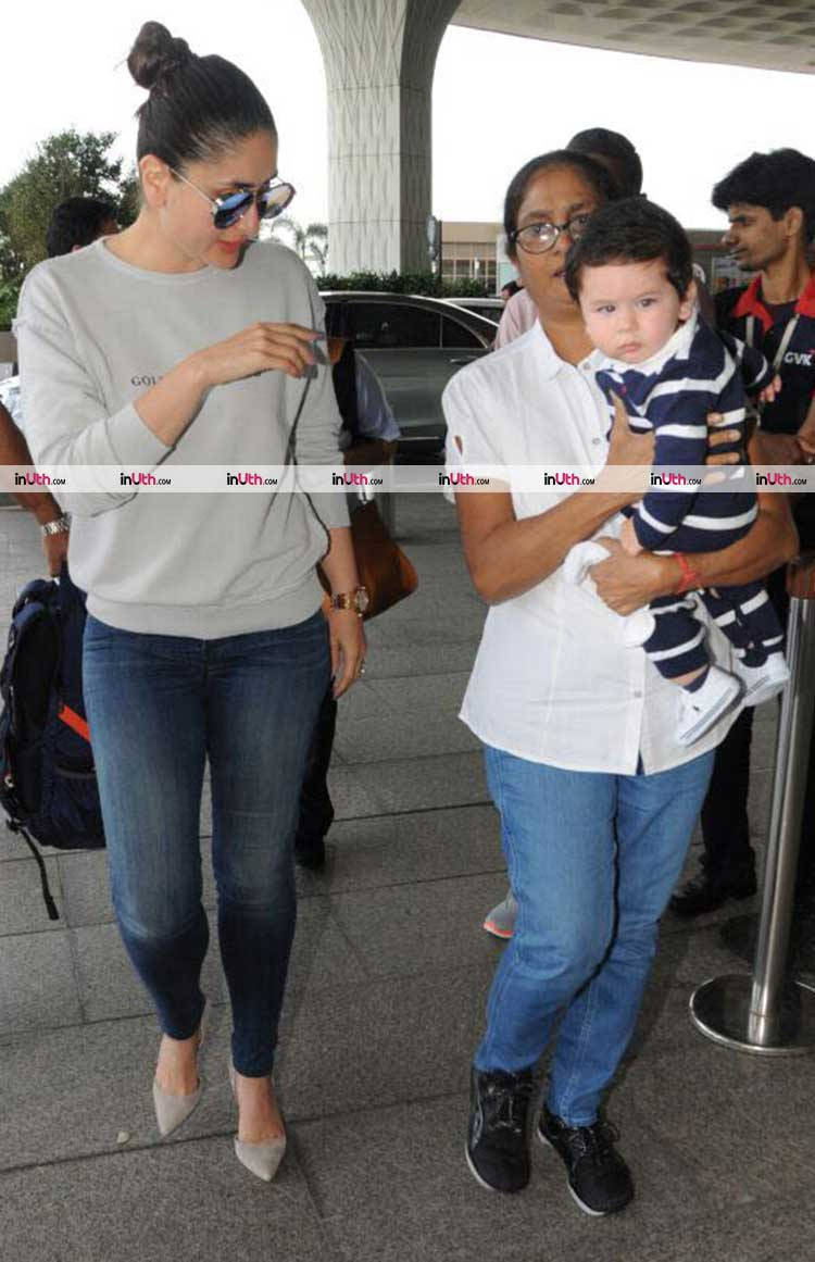 Kareena Kapoor takes the flight to Delhi for Veere Di Wedding