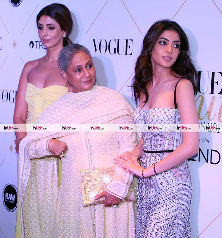 Navya Naveli, Shweta Nanda, and Jaya Bachchan at the Vogue Beauty Awards 2017