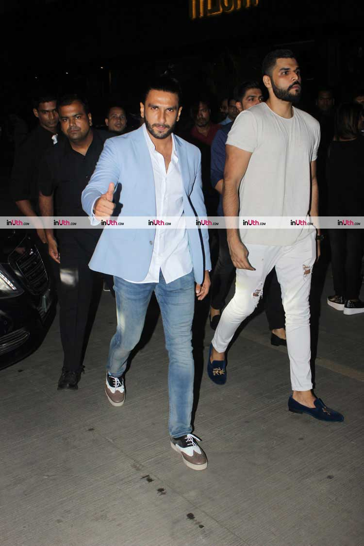 Ranveer Singh after dinner date with Deepika Padukone