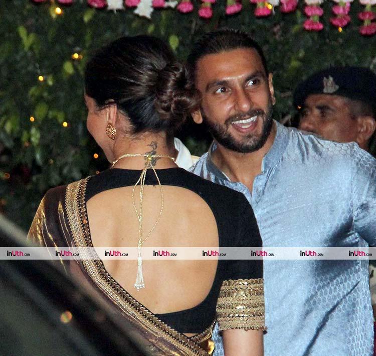 Ranveer Singh with bae Deepika Padukone at Ambani's Ganpati festivities