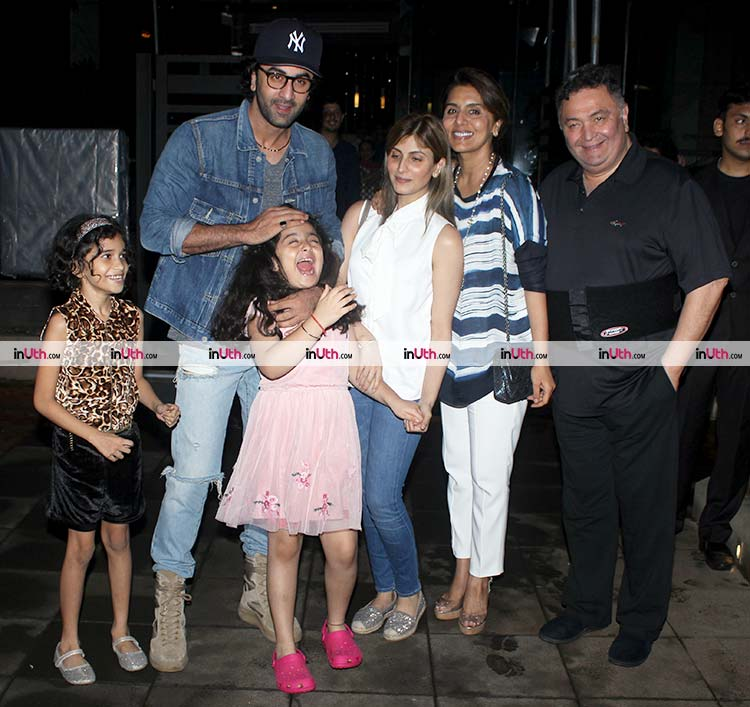 Ranbir Kapoor with his family