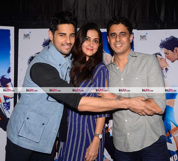Sidharth Malhotra and his family at A Gentleman screening