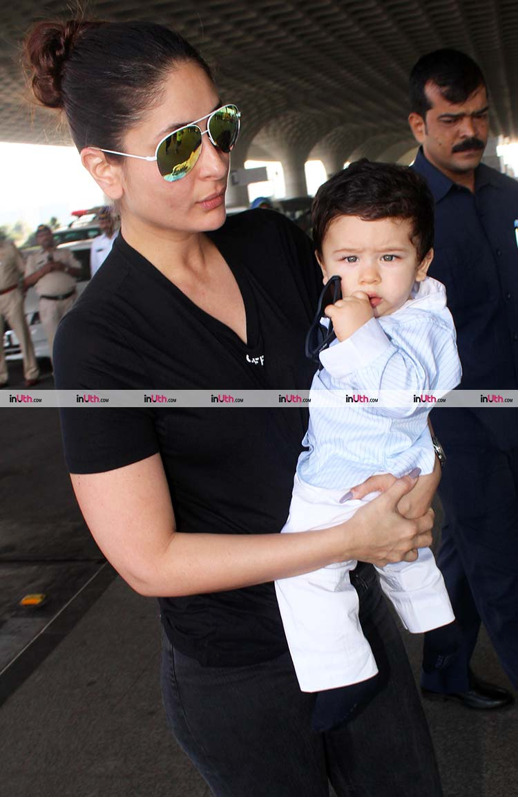 Taimur Ali Khan gives a look to the camera