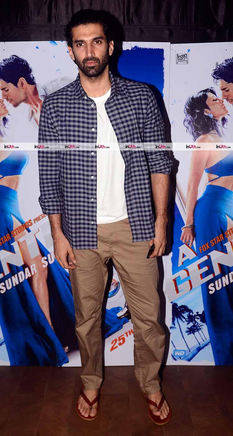 Aditya Roy Kapur at A Gentleman screening