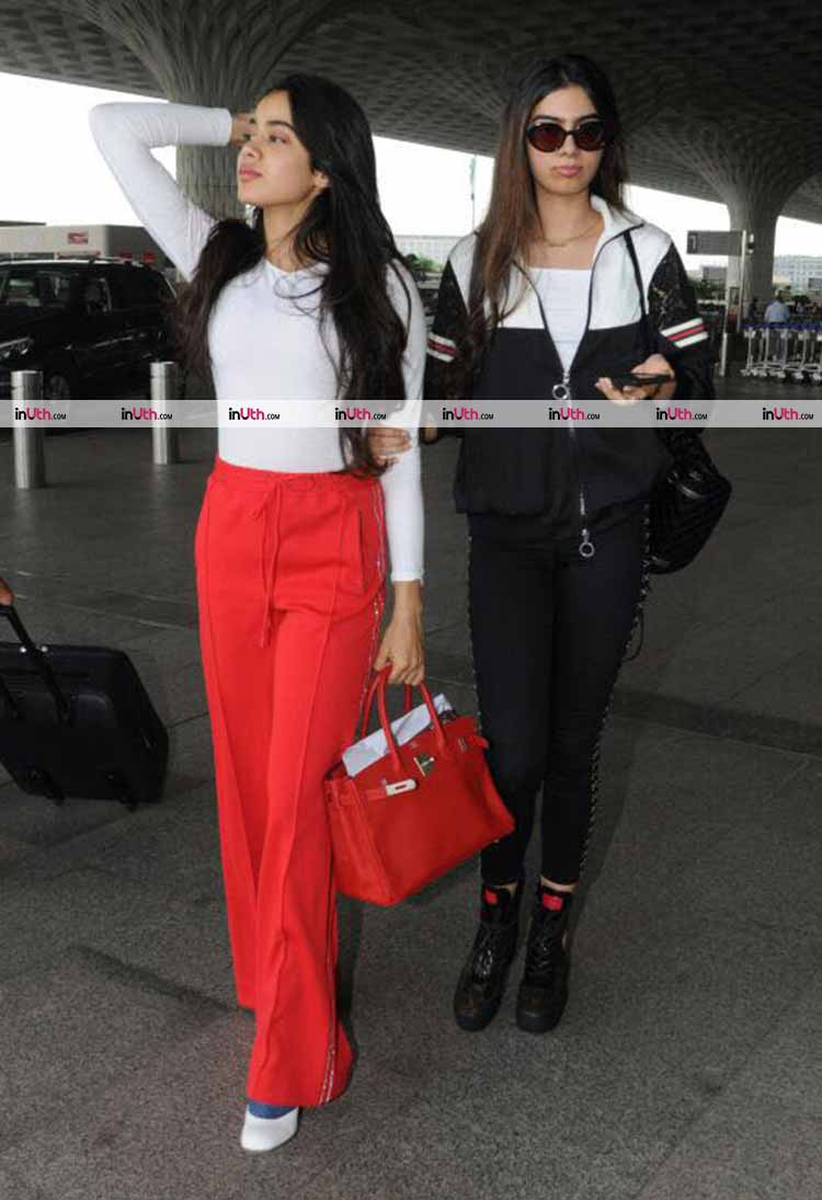Jhanvi and Khushi Kapoor show how to do the airport fashion right